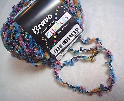 Stacy Charles Bravo Yarn   5 Multi Color Multi Texture Blend  50 Grams