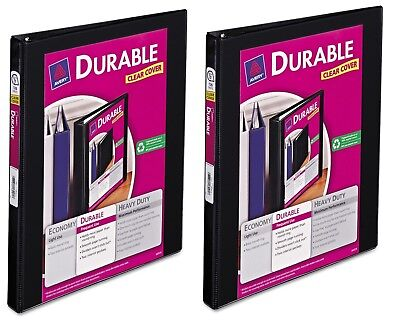 2-pack Avery Durable 12 Slant 3-ring Binder Black Office Inch View Paper Three