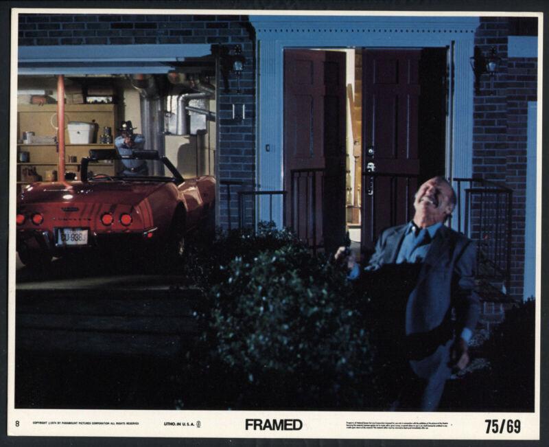 BROCK PETERS CORVETTE JOHN LARCH RARE Framed '74