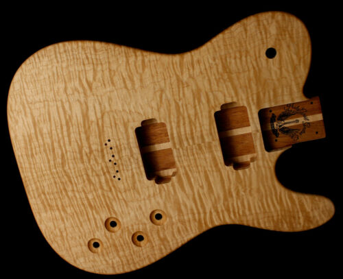 HH Telecaster Body • Mahogany • Flame Maple • / Tele Body / Pre-Order