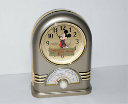 Vintage Disney Seiko Mickey Mouse Musical Alarm Clock 7 Songs New W/out Box