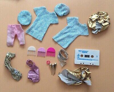 Vintage 1980s Jem Dolls Clothing, Combs, Cassette & Accessories Lot!