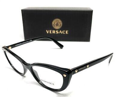 Versace VE3258 GB1 Black Women's Authentic Eyeglasses Frame 51-16