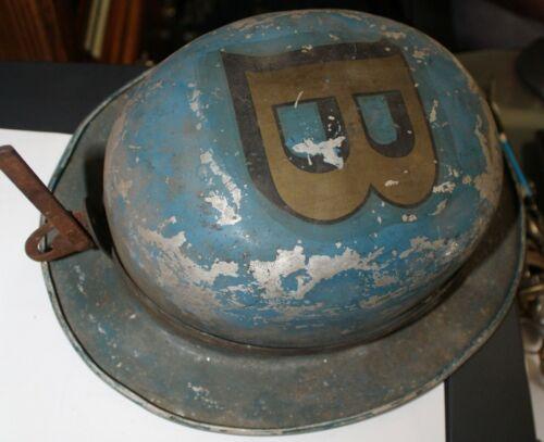 Unusual Black Beauty Coal Miners Helmet Indiana Aluminium Metalite Los Angeles