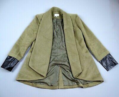 Ladies Womans Topshop Jovonna London Jacket Coat Green Size UK 12