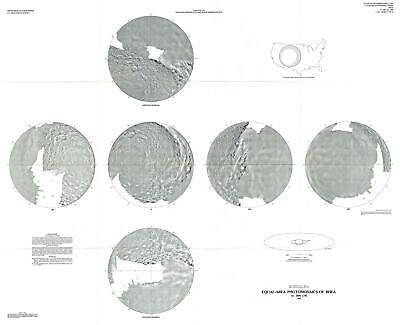 1988 U.S. Geological Survey Map or Photomosaics of Rhea, Moon of Saturn