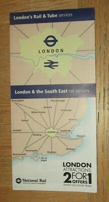 London & SE Rail & Tube Services fold out map - Dec 2017 edition
