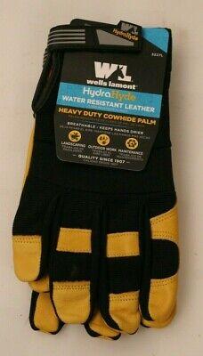 1 Pair Premium Leather Work Gloves Wells Lamont Mens Hydrahyde Sp511