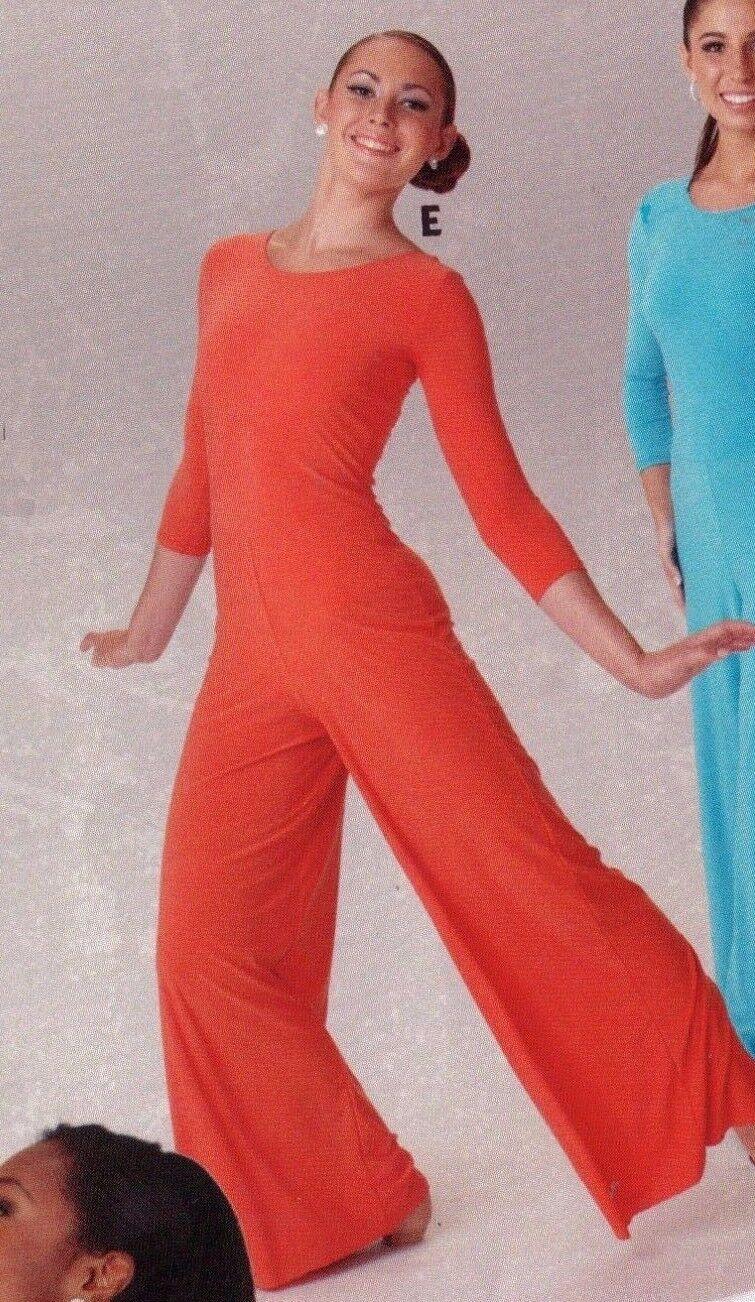 3/4 Sleeve Palazzo Leg Jumpsuit Praise Dance Liturgical S...