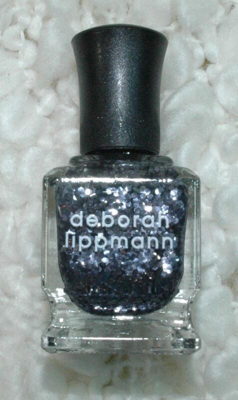 Deborah Lippmann I Love the Nightlife Nail Polish Lacquer Graphite Glitter NIB