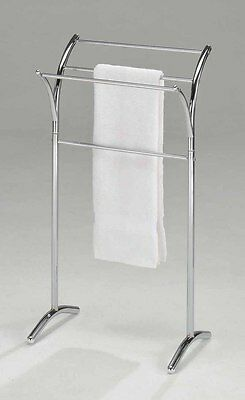 شماعة حمام جديد Kings Brand Furniture Chrome Finish Towel Rack Stand  ~New~