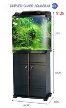 Fish tank with cabinet stand filter pump LED all include from $56 Auchenflower Brisbane North West Preview