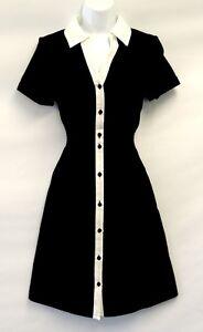 New-White-Black-Ladies-1950s-Retro-American-diner-waitress-style-shirt-dress