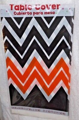 Chevron Party Supplies (Halloween Chevron Plastic Table Cover, Fall Party Supplies 54
