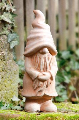 Großer Terracotta Gartenzwerg, 42 cm hoch, Gartendekoration, Wichtel, Figur