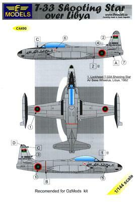Used, LF Models Decals 1/144 LOCKHEED T-33A SHOOTING STAR Libyan Air Force for sale  USA