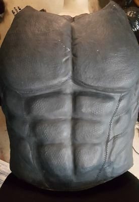 Custom made batman superhero chest muscle armor plate, arkham city, origin style