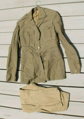 WW2 US ARMY UNIFORM TUNIC & WW1 PANTS ID