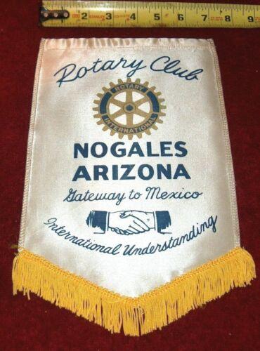 VINTAGE Rotary International Club wall banner flag     NOGALES   ARIZONA