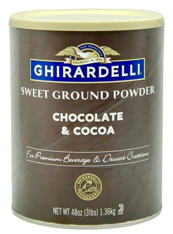 Ghirardelli - Sweet Ground Chocolate & Cocoa Gourmet Powder 3 lbs (S3)