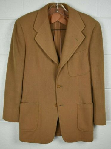 Vintage 1940s Cricketeer Broadcrest Jr Youth Boys Sport Coat Jacket Brown 33