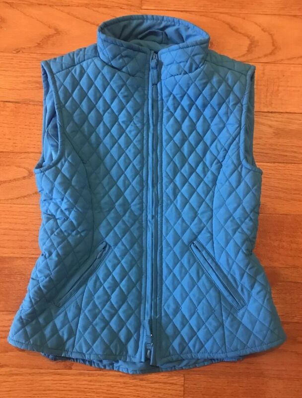 Shires Quilted Equestrian Riding Vest Girls Size XXXS Blue