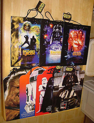 STAR WARS LOT OF 7 AUTHENTIC GIFT BAGS 1997 NEW W/ TAGS](Stars Wars Gifts)