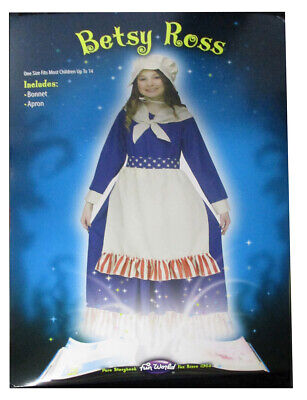 Betsy Ross Children (Childs Betsy Ross American Flag Dress Apron Bonnet Historical Halloween)