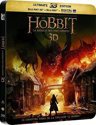 THE HOBBIT: THE BATTLE OF THE FIVE ARMIES - 3D + 2D + DVD - Blu-Ray Steelbook