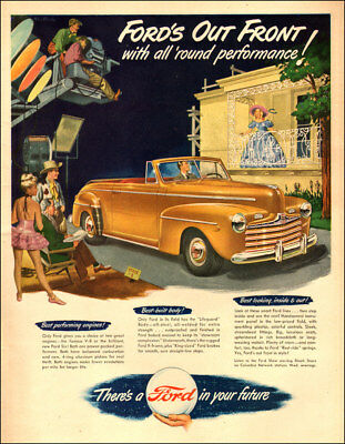 1947 classic car AD Sharp Gold Ford Convertible on movie set 041518