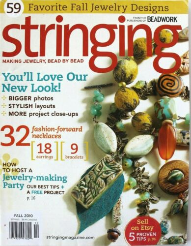 Jewelry Stringing Bead Magazine Projects Crafts Instruction 2010 59 projects
