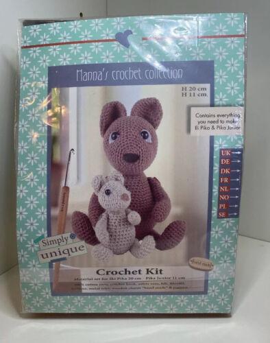 Go Handmade Lil Pika 20cm /& Junior The Rabbits 11cm Crochet Needlework Kit!