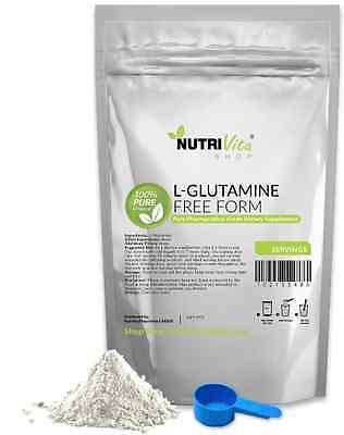 2.2lb (1000g) NEW 100% L-GLUTAMINE FREE FORM AMINO PHARMACEUTICAL GLUTAMINE