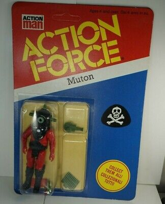Action Force G I JOE Vintage 1983 Palitoy Enemy MUTON Red Shadow Euro Figure MOC