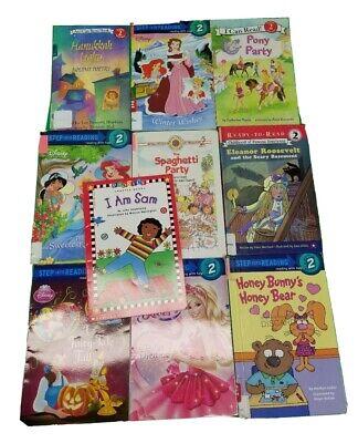 Lot of 10 Beginning Reader AR Level 2 Disney Princess Pony Girls I can Read L31