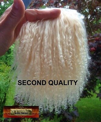 M00759 MOREZMORE Tibetan Lamb Fur Seconds Ecru Blonde Doll Baby Hair NSS