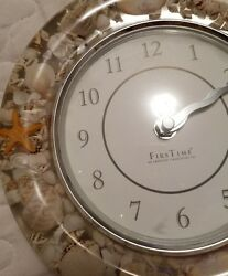 First Time an american timekeeping co. seashell clock