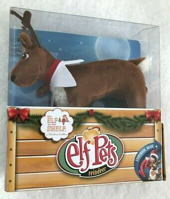 Elf On The Shelf ELF PETS Reindeer Plush Toy + Book Set / Excellent / New Book