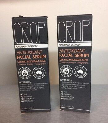2 CROP Antioxidant FACIAL SERUM Naturally Derived Organic Blend 1.69oz FREE SHIP
