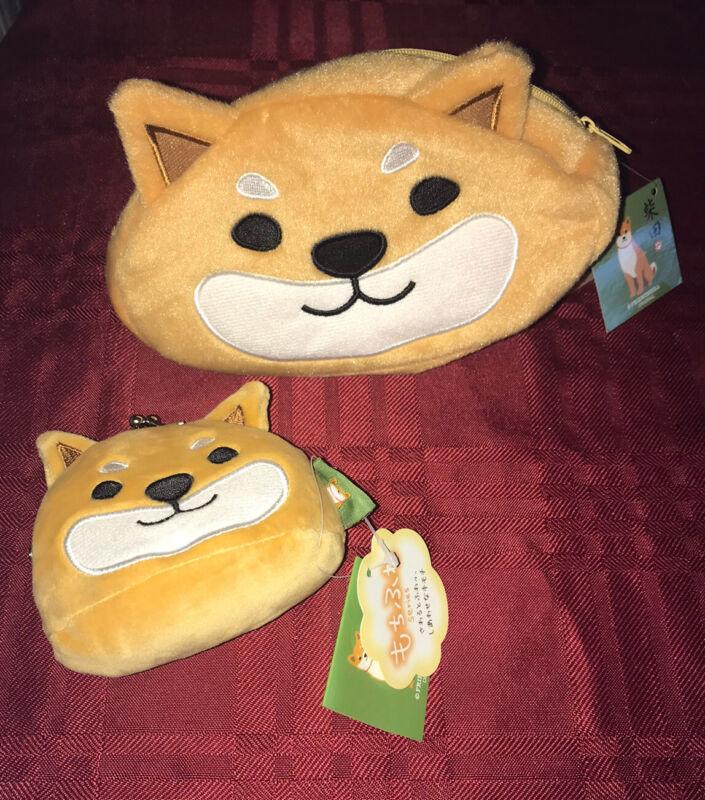 Shiba inu dog Shibatasan Plush Pouch and Coin Purse Set Friendshill Original New