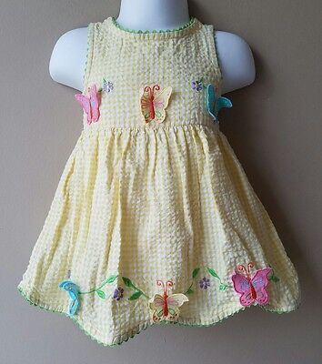 Specialty Baby 12 Months Gingham Butterfly Dress Bloomers Easter Spring Summer (Specialty Baby Clothes)