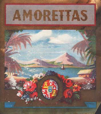 Werbung 1925, Zigarren-Kisten-Verpackung Aufleger: AMORETTAS