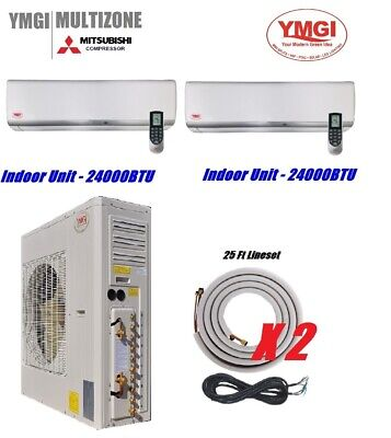 YMGI 48000BTU 24000+24000 DUAL ZONE DUCTLESS MINI SPLIT AIR