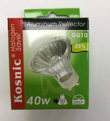 Kosnic 40W (50W) 240v halogen Eco GU10  reflector lamp bulb - Pack of two