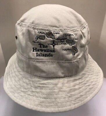6b09005e67b74 Hawaiian Islands Hawaii Boonie Booney Floppy Fishing Hat Khaki Beige Men  OSFA