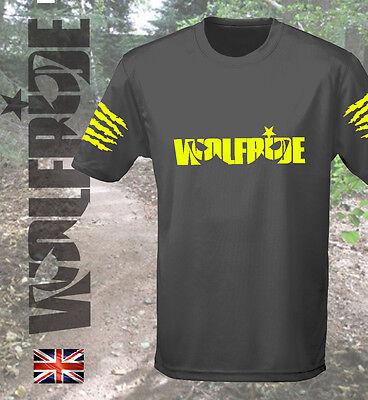 Mountain Short Sleeve Tee (Short sleeve wicking loose t-shirt, mountain bike, tee MTB - yellow print)