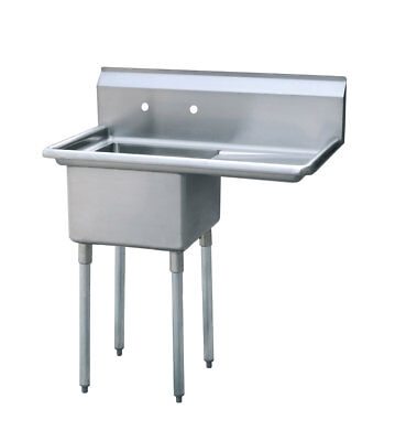 Atosa Mrsa-1-r One Compartment Sink Prep Veggie Sink Stainless Steel Nsf