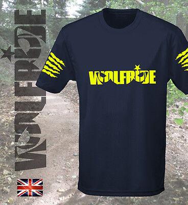 Mountain Short Sleeve Tee (Short sleeve wicking Wolfride t-shirt, mountain bike, tee MTB, loose fitting)