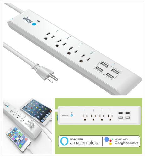 Smart WIFI APP Power Strip 4 Outlet 4 USB Surge Protector Plug Work Alexa Google