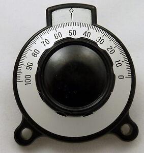 Precision Tuning Vernier Dial Control Knob, Calibrated 0-100 Velvet Ham Radio